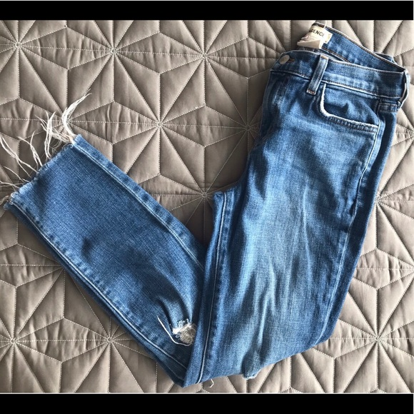 "L'AGENCE Denim - L'AGENCE ""Margot"" skinny high rise crop jean Sz24"